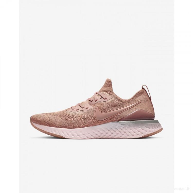 Nike Epic React Flyknit 2 BQ8928-600 Or Rose En ligne Shop