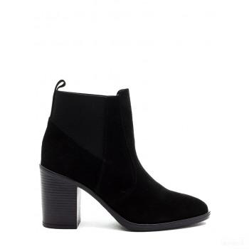 Abril Flowers Boots chelsea en cuir noir Online Achat