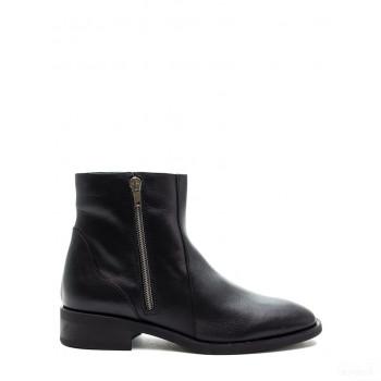 Abril Flowers Boots en cuir noir Outlet en ligne
