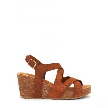Abril Flowers Sandalettes compensées marron clair Online Soldes