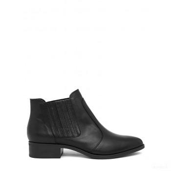 Abril Flowers Ankle boots en cuir noir Outlet France