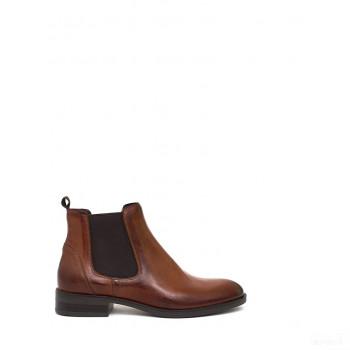 Abril Flowers Boots chelsea en cuir marron 2020 Sale