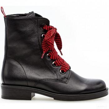 Gabor Bottines à Lacets Noir Boots Femme Outlet Online