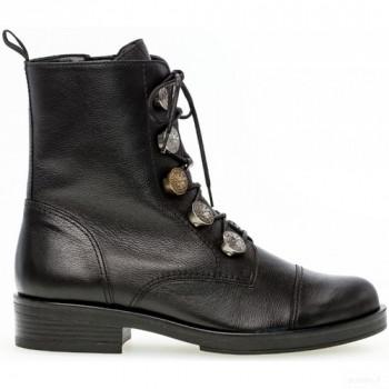 Gabor Bottines à Lacets Noir Boots Femme Vente en ligne