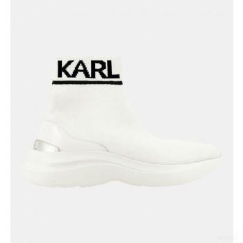 Karl Lagerfeld Baskets Montantes Socks Skyline Blanc En Soldes