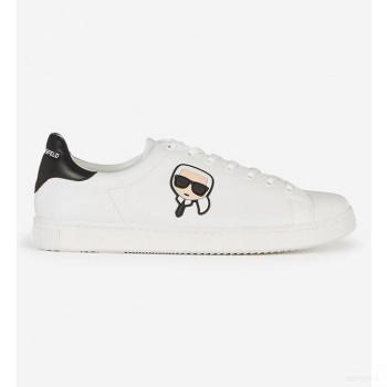 Karl Lagerfeld Baskets Basses Kourt Blanc Et Noir Vente chaude