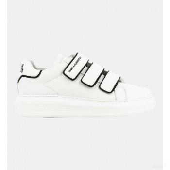 Karl Lagerfeld Baskets Basses Scratchs Semelle épaisse Blanc Remise Vente