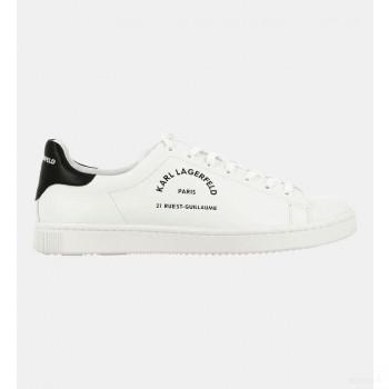 Karl Lagerfeld Baskets Basses Cuir Logo Blanc 2020 Sale