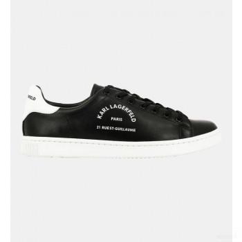 Karl Lagerfeld Baskets Basses Cuir Logo Noir Online Store
