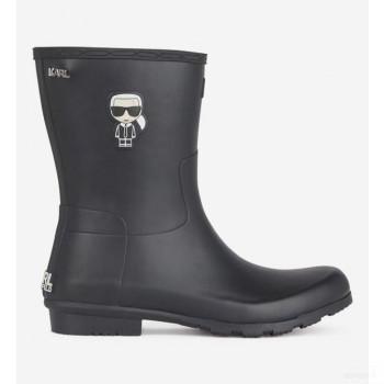 Karl Lagerfeld Bottes De Pluie Midi Kalosh Noir Online Store