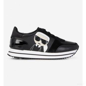 Karl Lagerfeld Baskets Basses Velocita 2 Cuir Noir Online Boutique