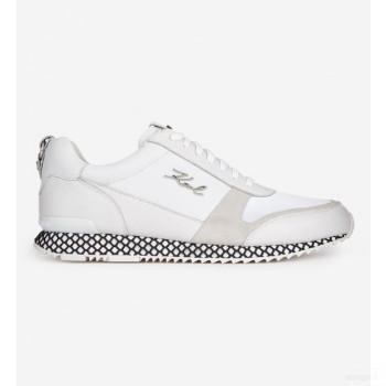 Karl Lagerfeld Baskets Basses Velocitor En Cuir Blanc 2020 Outlet