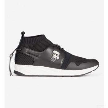 Karl Lagerfeld Baskets Chaussettes Basses Vektor Noires Noir Mode Online