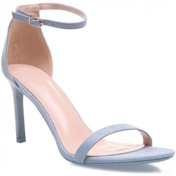 La Modeuse Sandales Bleu Clair à Bride Et Talon Aiguille Sandales Et Nu-pieds La Modeuse en France