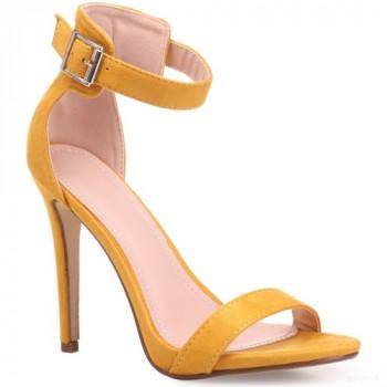 La Modeuse Sandales Jaune Moutarde à Talon Aiguille Sandales Et Nu-pieds La Modeuse Outlet Online