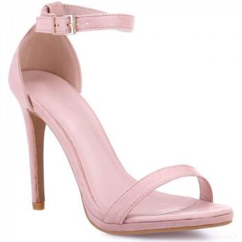 La Modeuse Sandales En Suédine Roses Sandales Et Nu-pieds La Modeuse Nouveautés Promos