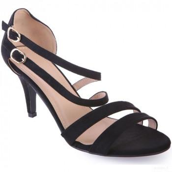La Modeuse Sandales Noires à Talon Fin Grandes Tailles Sandales Et Nu-pieds La Modeuse 2020 Online