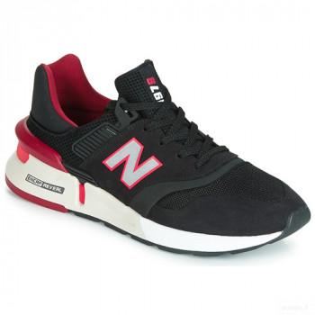 New Balance 997 Noir / Rouge Baskets Basses Homme Grosses soldes