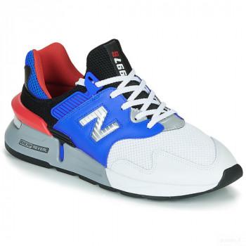 New Balance 997 Blanc / Bleu Baskets Basses Homme Online Achat