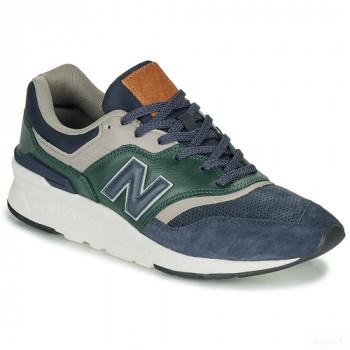 New Balance 997 Bleu / Vert Baskets Basses Homme Outlet en ligne