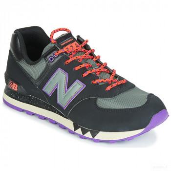 New Balance 574 Noir / Violet Baskets Basses Homme Vente en ligne