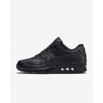 Nike Air Max 90 Leather 302519-001 Noir Remise Vente