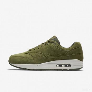 Nike Air Max 1 Premium 875844-301 Toile D'olive Meilleures ventes