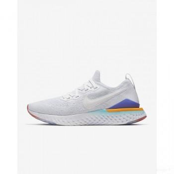 Nike Epic React Flyknit 2 BQ8927-104 Blanc Dégagement