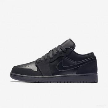 Nike - Air Jordan 1 Low 553558-025 Noir Outlet Online