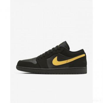 Nike - Air Jordan 1 Low 553558-071 Noir En Soldes