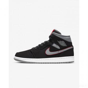 Nike - Air Jordan 1 Mid 554724-060 Noir Nouveautés Promotions