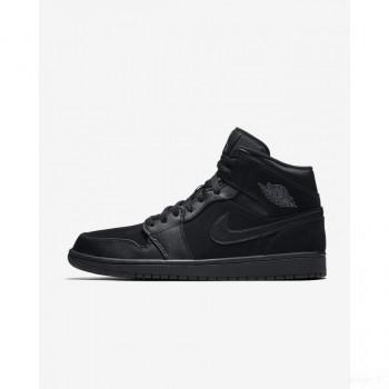 Nike - Air Jordan 1 Mid 554724-050 Noir Outlet en ligne