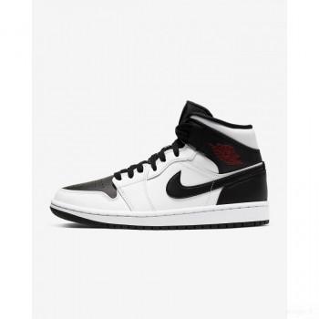 Nike - Air Jordan 1 Mid BQ6472-101 Blanc En Soldes