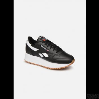 reebok classic leather double - noir Online Soldes