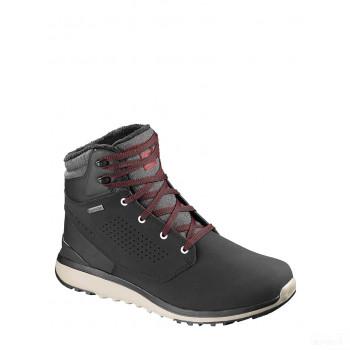 SALOMON Boots de randonnée en cuir Utility noir Online France