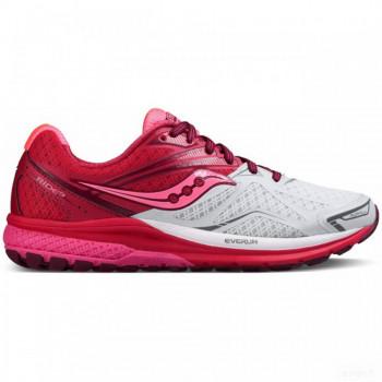 running femme saucony saucony - ride 9 femmes chaussure de course (blanc/rose) Outlet en ligne