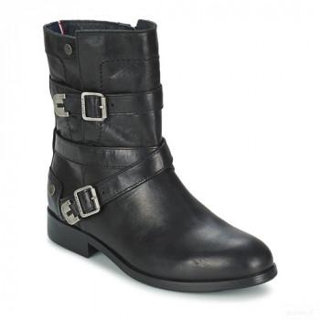 Tommy Hilfiger Piper 1a Noir Boots Femme Outlet Online