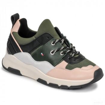 Tommy Hilfiger Sporty Chuncky Sneaker Kaki / Saumon / Gris Baskets Basses Femme Nouveautés Promos