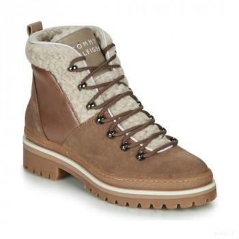 Tommy Hilfiger Cosy Outdoor Bootie Beige / Taupe Boots Femme Vente en ligne