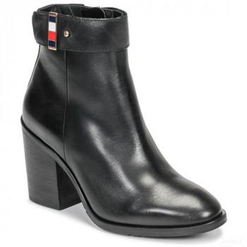 Tommy Hilfiger Corporate Harware Bootie Noir Bottines Femme Online Acheter