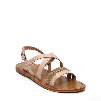Whitesun Sandales en cuir Paraena rose Vente en ligne