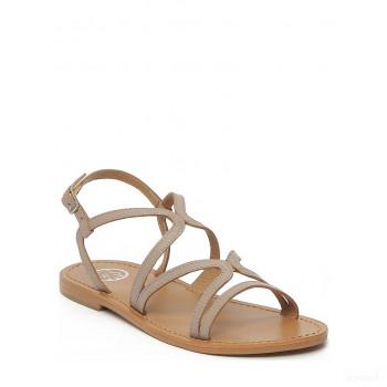 Whitesun Sandales en cuir Amapa marron/gris Outlet France