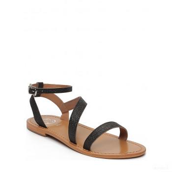 Whitesun Sandales en cuir Xigala noir Online Acheter